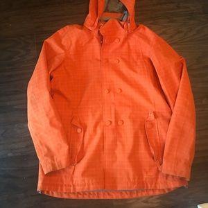 Rei orange rain coat